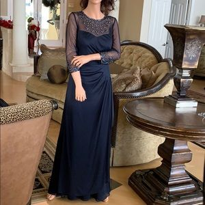 Exquisite Navy Formal Gown (Never Worn)